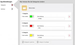 WebAkte Kategorien hinzufügen