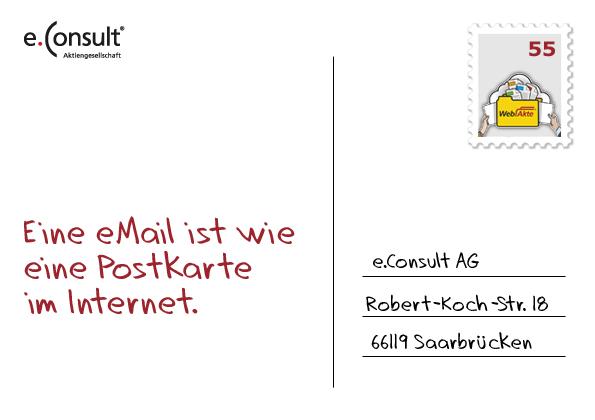 e-mail ist wie postkarte im internet